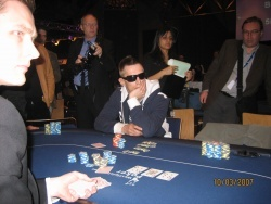 Michael mit Pokerface