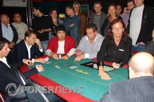 Koen de Bakker, Yves, Chin, Erik en Dealster