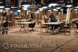 De pokerroom wordt deels opgebroken