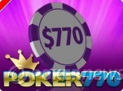 Poker 770 también ofrece freerolls exclusivos para jugadores registrados con los links de PokerNews