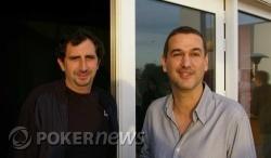 Santi Terrazas (izquierda) con el director de cine Roberto Santiago