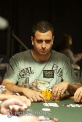 Final table chip leader Robert Mizrachi