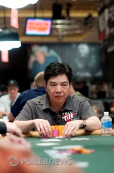 David Chiu takes the chip lead into tomorrow's final day