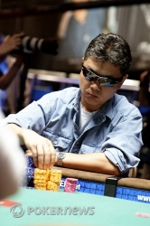 Yan Chen stacking up chips