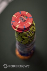 """Those """"5"""" chips are the so-called """"add-on"""" chips with which players will begin today"""