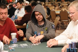 Chip leader Jonathan Little