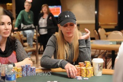 Sidsel Boesen, chip leader at the end of Day 2