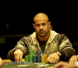 One of the chip leaders Erik Cajelais