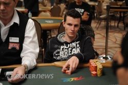 Miguel Proulx, end of Day 2 chip leader