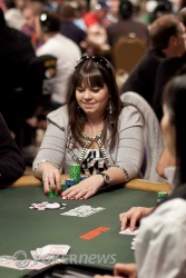 Annette Obrestad is among the 140 players still shooting for the Event No. 39 bracelet