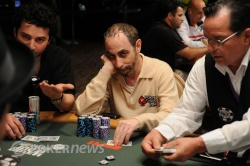 Barry Greenstein one of the big stacks to finish the day