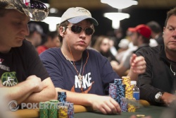 Jim Collopy is in the mix of overnight chip leaders