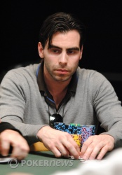 Olivier Busquet finished Day 1B as one of the big stacks.