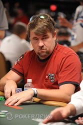 Chris Moneymaker has made it safely through into day two action