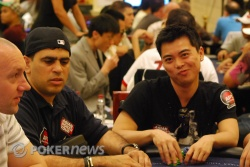 Tommy (right) shows his poker face.