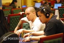 Neil Arce, left, takes out seatmate Jun Te