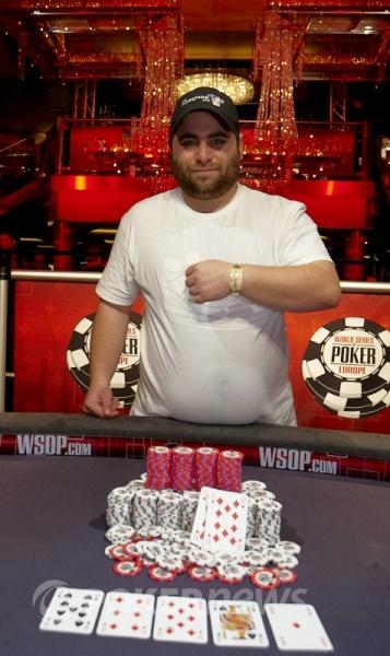 James Bord winner of WSOPE Main Event 2010