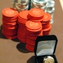 WSOP Circuit gold championship ring and chips