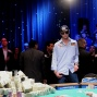 John Racener waits for flop of first all-in