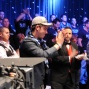 Filipo Candio applauds his his table mates after he is eliminated