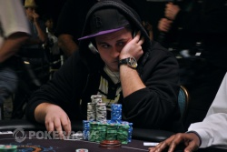 Chip leader Chris Oliver