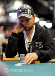 Daniel Negreanu in yesterday's $25K Heads-Up Event