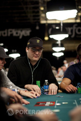Phil Hellmuth (from Event #3): a more sedate arrival today