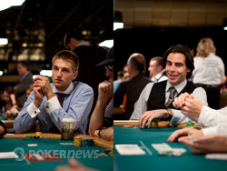 Tony Dunst and Olivier Busquet compete for best dressed in poker