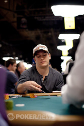 Matt Marafioti finished in the top ten chips counts.