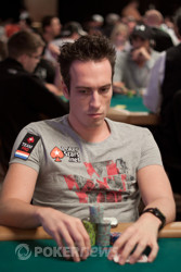 Team PokerStars Pro Lex Veldhuis is near the top of our chip counts with 73,000