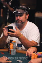 Chris Tryba - Looking at himself on PokerNews.com