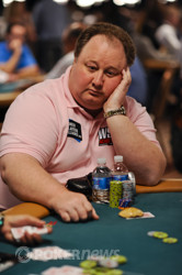 Greg Raymer finds himself near the top after Day 1