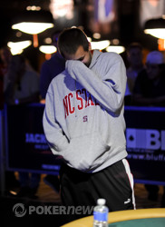 Mazin Khoury reacts to be eliminated.