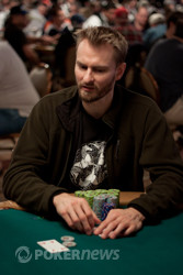 Chip leader Michael Binger