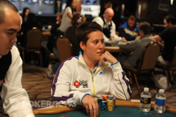 Vanessa Selbst is Day 1 chip leader with 250,300.