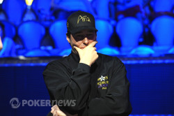 Phil Hellmuth (Event # 33) Is Not Pleased With Being Bullied By Our Day 1 Chip Leader