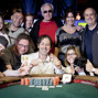 Arkadiy Tsinis, winner of Event 38 1.5k NLH, posed with his supporters