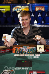 Event 46 bracelet winner Joe Ebanks