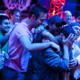 Athanasios Polychronopoulos's fans mob him after he has won event 48 of the WSOP.