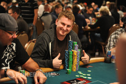 Ben Volpe - the overwhelming Day 1 chip leader!
