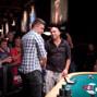 Dror Michaelo congratulates Maxim Lykov on the win
