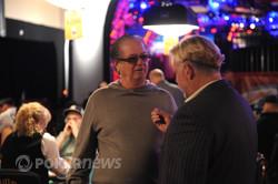 Billy Baxter, here chatting with WSOP Media Director Nolan Dalla