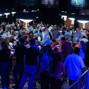 Players and fans fill a corner of the Amazon Room