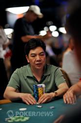 David Chiu knocks out a short stack.