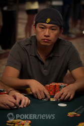 Kenny Shih with aces in the big blind.