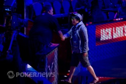 Joesph Cheong makes his exit from the 2011 WSOP Main Event.