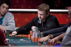 Ben Lamb is back among the chip leaders