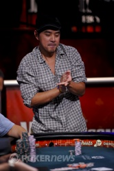 Khoa Nguyen celebrates a a chop to stay alive.
