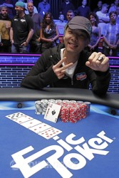 Champion Chino Rheem (photo courtesy of Epic Poker)