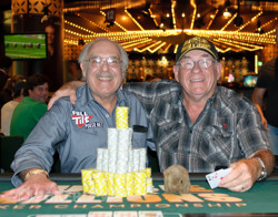 Aussies David Gorr and Leo Boxell from last year's Aussie Millions